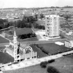 Aerial view of the church from 1960